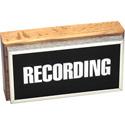 Horizontal Studio Warning Light - Recording in Silver Lettering