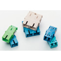 HellermannTyton FALCDMMA Adapter - LC Duplex - UPC Multimode - No Flange - Aqua