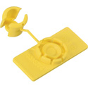 Rip Tie Unitag Cable Identification Labels 100 Pk Yellow (5/8x1.5In)