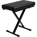 Ultimate Support JS-XB100-B JamStands Series Extra Capacity - 300 Pounds - Keyboard Bench - Black