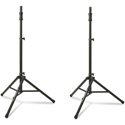 Photo of Ultimate Support TS-100B 44-79-Inch High Air Assist Speaker Stand with 150lb Capacity - Black - 2-Pack