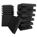Ultimate Acoustics UA-KIT-SB2 Bevel and Wedge-style Studio Foam - 24 Pack (12 Wedge/12 Bevel)