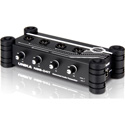 UNiKA NBB-04T Cascadable 4-Channel Analog Audio DANTE Transmitter with Dual RJ45 and 4 Combo XLR 1/4-Inch Jacks