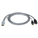 NTI USB-HHEXT-15-MM HDMI Male & USB Type A Male to HDMI Male Cable - 15 Foot