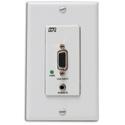 Hall Technologies UVA-DP Video and Audio Over UTP Decora Plate Sender