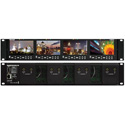 Marshall V-MD434-3GSDI Quad LCD Rack Mount with Modular 3G-SDI Input/Output