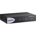 Vaddio 999-8250-000 AV Bridge 2x1 HDMI Input Presentation Switcher with 4x4 Dante Audio Matrix