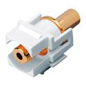 Vanco 820489 3.5mm Keystone Insert 3.5mm Jack to 3.5mm Jack - White