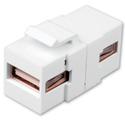 Vanco 820498 USB Keystone Insert USB A to USB A - White