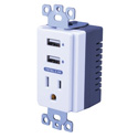 Vanco USBWP5V Dual USB In-Wall Charger with AC
