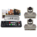 A Video Streaming Kit with Roland V-1SDI Switcher and Matrox Monarch HD and 2pcs AV-1360 PTZ Camera