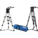 Vinten VB250-CP2 Pan/ Tilt Head- Pan Bars-2-stage Pozi-Loc Tripod-Spreader-Case