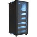 VMP EREN-27 27U Floor Cabinet with 5 Shelves and Blanks - 2 Fans