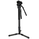 Varizoom CHICKENFOOT-HEAD Carbon Fiber 4-stage Fluid Head Monopod w/ Fold-Down Tripod Foot