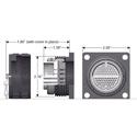 W6CRP  MicroMASS 84 Pin Chassis - Crimp Type Pin/Socket