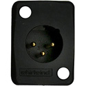 Whirlwind WC3M Male XLR Mounting Plate - Black