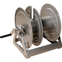 Photo of Hannay Reels C1520-17-18 Cable Reel with Slotted Divider Disc Silver