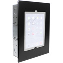 FSR WE-FMIPDNB-BLK Wall Mount Flush Mount - No Button with Back Box and Cover for Ipad 2/3/4 - Black