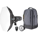 Westcott 4712 FJ400 Strobe 1-Light Backpack Kit with FJ-X2m Universal Wireless Trigger & Rapid Box Switch Octa-S (US/CA)