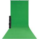 Westcott 579SK X-Drop Wrinkle-Resistant Backdrop Kit - Chroma-Key Green Sweep (5 x 12 Foot)