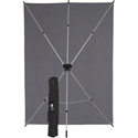 Westcott 620K X-Drop Wrinkle-Resistant Backdrop - Neutral Gray Kit (5 Foot x 7 Foot)