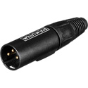 WI3M-BK XLR Male Connector Set BLACK - Number 1-24