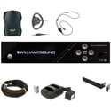 WILLIAMS AV FM-557-PRO FM Plus Large-Area Dual FM and Wi-Fi Assistive Listening System with 4 FM R37 Receivers