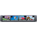 Wohler RM-2443WS-3G2 Dual Input 2RU Quad 4.3-Inch 3G/HD/SD-SDI/Analog Rackmount LCD Video Monitor