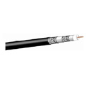 West Penn 25Q841 RG6/U Type CATV Coaxial Cable Plenum (1000 Ft.) Black