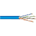 West Penn Wire 4245 Category 5e Cable with PVC Jacket 1000 Foot Reel in a Box - Blue
