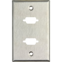 My Custom Shop WP1/2D 1-Gang Wall Plate w/ 2 D-Sub HDMI-FF-CM cutouts