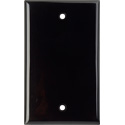 My Custom Shop WP1-PLAS/BLACK 1-Gang Blank Black Lexan Wall Plate