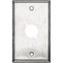My Custom Shop WP1X1 1-Gang 1-Punch Stainless Steel Wall Plate D Series Style Cutouts