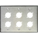 MCS WP3/6X 3-Gang Stainless Steel Wall Plate w/ 6 D-Series Cutouts