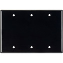 My Custom Shop WP3-PLAS/BLACK 3-Gang Black Lexan Wall Plate Blank