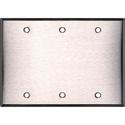 My Custom Shop WP3000 3-Gang Blank Stainless Steel Wall Plate