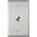 My Custom Shop WPL-1101 1-Gang Stainless Steel Wall Plate w/ 1 BNC F-F Feedthru
