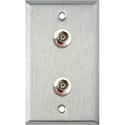 My Custom Shop WPL-1102 1-Gang Stainless Steel Wall Plate w/ 2 BNC F-F Feedthrus