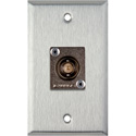 My Custom Shop WPL-1103 1-Gang Stainless Steel Wall Plate with 1 Canare 12G-SDI BNC Feedthru Connector