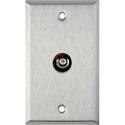My Custom Shop WPL-1105 1-Gang Stainless Steel Wall Plate w/ 1 RCA Feed-Thru Barrel