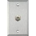 My Custom Shop WPL-1107 1-Gang Stainless Steel Wall Plate w/ 1 F-Connector F-F Feedthru