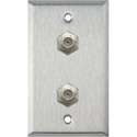 My Custom Shop WPL-1108 1-Gang Stainless Steel Wall Plate w/ 2 F-Connector F-F Feedthrus