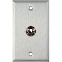 My Custom Shop WPL-1109 1-Gang Stainless Steel Wall Plate w/ 1 1/4 TRS Phone Jack