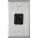 My Custom Shop WPL-1113-TB 1-Gang Stainless Steel Wall Plate w/ Neutrik 3-Pin XLR-M Terminal Block