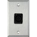 My Custom Shop WPL-1115-BG 1-Gang Stainless Steel Wall Plate w/ 1 NC3FD-L-1-B Connector