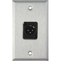 My Custom Shop WPL-1119 1-Gang Stainless Steel Wall Plate w/ Plastic 3-Pin Male XLR