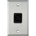 My Custom Shop WPL-1121 1-Gang Stainless Steel Wall Plate w/ Plastic Latchless 3-Pin Female XLR