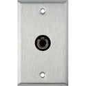 My Custom Shop WPL-1130 1-Gang Stainless Steel Wall Plate w/ 1 S-Video 4-Pin Barrel