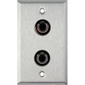 My Custom Shop WPL-1133 1-Gang Stainless Steel Wall Plate w/ 2- 4 Pin S-Video w/ Rear Solder Points