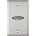 My Custom Shop WPL-1144 1-Gang Stainless Steel Wall Plate w/ One 15-Pin Female Rear Solder Connector